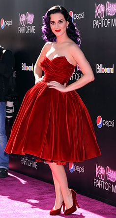 Katy Perry (in Dolce & Gabbana) at the premiere of Katy Perry: Part of Me in Los Angeles