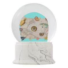 World Globe Map Button   Pinterest   Globe Marine Treasures Beige Vintage Map Teal Snow Globe   customize create your  own  personalize diy