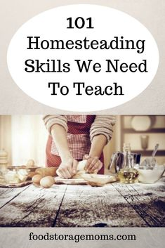 We've heard a lot the last few years about homesteading skills, vintage skills, and pioneer skills. I don't know about you, but I can do all of these and I bet you can too. leven 101 Homesteading Skills We Need To Teach - Food Storage Moms Homestead Farm, Homestead Living, Homestead Survival, Survival Prepping, Emergency Preparedness, Survival Skills, Survival Gear, Survival Knots, Survival Essentials
