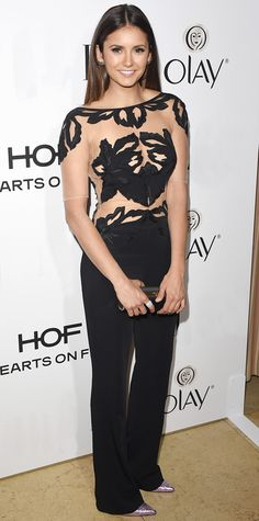 Look of the Day - January 14, 2015 - Nina Dobrev in Zuhair Murad from #InStyle
