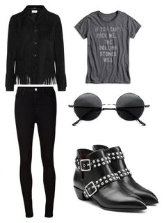 """""""If you can't rock me... The Rolling Stones will"""" by elitsagospodin ❤ liked on Polyvore featuring мода, Yves Saint Laurent, AG Adriano Goldschmied, Lucky Brand и Marc by Marc Jacobs"""