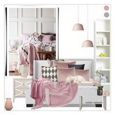 """""""Pink and Grey"""" by rainie-minnie ❤ liked on Polyvore featuring interior, interiors, interior design, home, home decor, interior decorating, Tvilum, Muuto, Pier 1 Imports and a&R"""