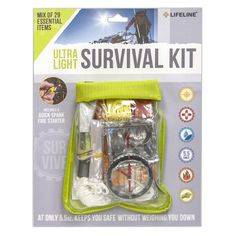 Looking for a lightweight and simple add on to any emergency survival kit, check out the Lifeline Ultra Light Survival Kit. At only 5.5oz, this ultralight survival kit is conveniently packed into a we