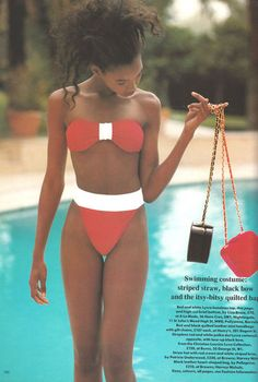 'Playing Pool' from………………Vogue UK July 1989 feat Beverly Peele