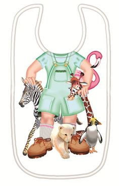 Just Add a Kid 'Jungle Jane' Bib available online at http://www.babycity.co.uk/