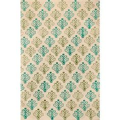 Lokta Hand Block Blue & Green on Natural Fine Paper.    shelf backing for open kitchen cabinets?
