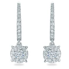 Rosendorff Round Brilliant Diamond Drop Earrings 152605