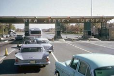 New Jersey Turnpike, c. - When we traveled back and forth from NY to STL, we would always get on the NJ Turnpike. Ah, the memories. Jersey Girl, New Jersey, Life In The 1950s, Usa Street, North Bergen, Delaware Valley, Bergen County, The Old Days, Atlantic City