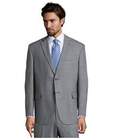 Wool Performance Suit Separates. Grey Sharkskin. 52% Wool 47% Poly 1% Lycra, 2 button, notch lapel, center vent, full lined suit jacket. BC2412-2011FL BLACK/GREY JIM SC