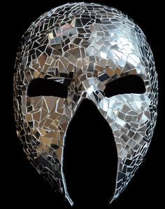 Venetian Punisher Mirror Mask on Etsy, £95.00