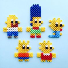 The Simpsons perler beads by pumpkinpiemakes