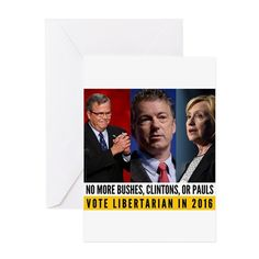 VOTE GARY JOHNSON! Greeting Cards on CafePress.com #Libertarian #party #election2016