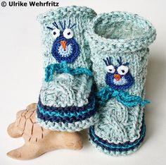 Stiefel & Booties - Babyschuhe Babystiefel - ein Designerstück von strickliene bei DaWanda