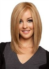 Fab Silky Straight 16Inch #28 Remy Human Hair Lace Front Wig