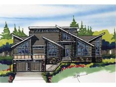 Build your ideal home with this Contemporary-Modern house plan with 4 bedrooms(s), 3 bathroom(s), 2 story, and 3921 total square feet from Eplans exclusive assortment of house plans.