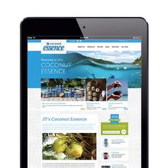 FLASHBACK FRIDAY | To the fresh and vibrant website we designed for 'Coconut Esssence' - Happy Friday!