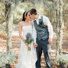 There is something very romantic about the idea of being married in a secluded woodland (Image from Lauren Kinsey Fine Art Photography)
