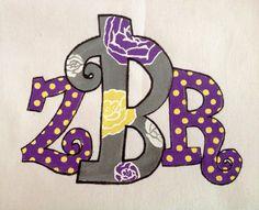 Custom Painted Monogram on Etsy, $30.00 Custom painted for Zoey!