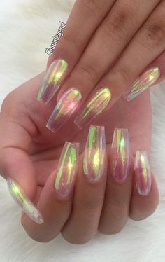 iridescent nails
