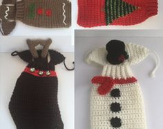 Holiday Crochet Dog Sweater WITH Hat, Crochet Dog, Dog Sweater, Custom Sweater, Ugly Christmas Sweater, Dog Clothing, holiday sweater