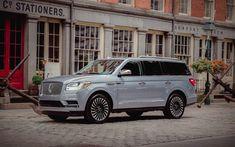 Télécharger fonds d'écran Lincoln Navigator, 4k, de luxe bleu de navigation, véhicules hors route, les voitures Américaines, Lincoln
