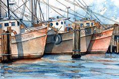 Dock on the Bay by Gene Rizzo Giclee Prints ~ 11x15 12x16 15x22 16x24 22x30 24x32 32x44 36x48 x x