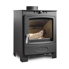 Solution 5 (S4) Solid Fuel Stove, Wood Fuel, Concealed Hinges, Clear Glass, Home Appliances, Stoves, Modern, Room, Design