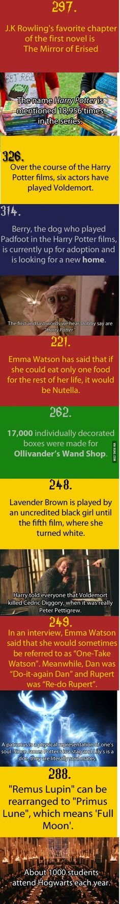 Just Some Harry Potter Facts Part 1  The James and Lily part made me tear up!