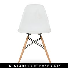 adam rocket dining chair white