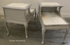 Oh so French End Tables!