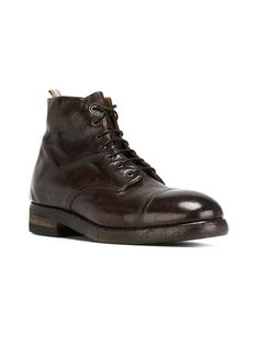 Officine Creative Lace-up Ankle Boots - 381.15 € Dell'oglio - Farfetch.com