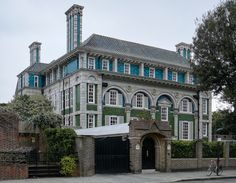 Debenham House a Grade I listed building built in the Arts and Crafts style during the 1900s Holland Park Royal Borough of Kensington and Chelsea London United Kingdom [19001474]