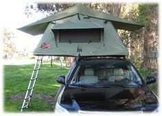 Tepui Tents Kukenam Roof Top Tent | Bass Pro Shops - Better than a ground-based tent, the Kukenam does not collect sand and dirt like a ground tent, eliminates the need to find a flat, rock-free spot, and keeps you away from snakes, spiders, and other unwanted visitors. #camping #rooftoptent
