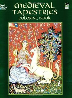 Medieval Tapestries Coloring Book Dover Fashion By Marty Noble