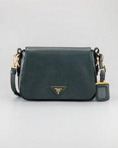 V16CM Prada Saffiano Lux Messenger Bag