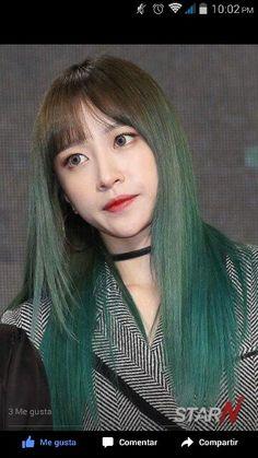 Hair goals Green hair Hani EXID