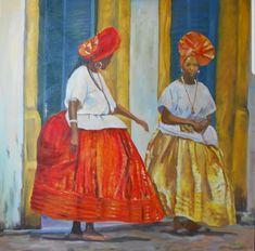 #Brasilien #Bahia #baianas #Tradition #Kunst #Malerei Create Yourself, Etsy Seller, Creative, Painting, Art, Bahia, Painted Canvas, Brazil, Painting Art
