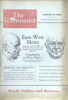 First appearance of The Economist's famous red logo, in August 1959