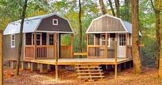 """A She-Shed and a Man-Cave combined into this awesome """"We-Shed"""" for the backyard! What do you think? We spotted these awesome Sheds by Portable Buildings of Houston and thought this Shed To Tiny House, Tiny House Cabin, Cabin With Loft, Tiny Houses, Shed With Loft, Silo House, Backyard Sheds, Outdoor Sheds, Backyard Buildings"""