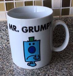 Mr. Grumpy Mr Men & Little Miss Large Coffee Mug Cup Marks & Spencer 2011 #MrMenLittleMiss