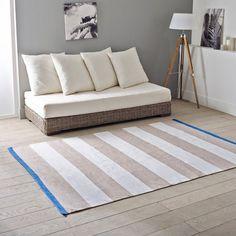 Image BLUT Woven Striped Cotton Rug La Redoute Interieurs