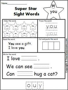 49 best Kindergarten Sight Word Worksheets images in 2017 | Sight ...