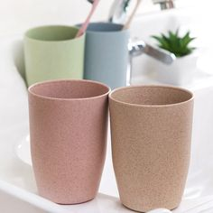 Nordic Style Plastic Tea Cups Eco-Friendly Wheat Straw Cup Coffee Tea Milk Drink Cup Toothbrush Cup for Home Bathroom Coffee Cup Tattoo, Coffee Cup Drawing, Coffee Cup Art, Coffee Cup Holder, Coffee Cup Cozy, Plastic Tea Cups, Wheat Straw, Cup With Straw, Nordic Style