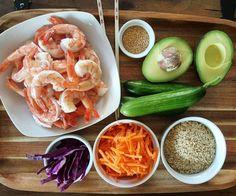 Clean Eating Sushi Bowls Prep https://cleanfoodcrush.com/shrimp-bowls
