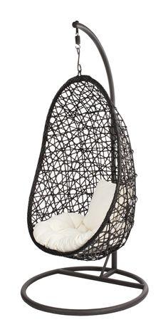 Hanging Chair Brown Egg Giardino http://www.designmeubelzaak.nl/hang-stoel-bruin-egg.html