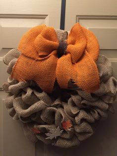 A personal favorite from my Etsy shop https://www.etsy.com/listing/243837185/fall-wreath-with-bow