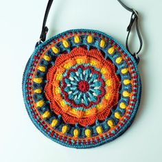 Crocheted Strap for a Bag: not stretchy and holding its shape | LillaBjörn's Crochet World
