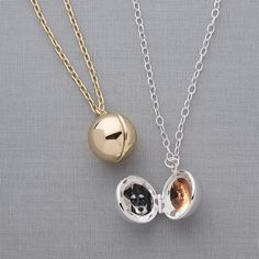 Ball Locket Necklace // Keep your loved ones or furry babies close to you!