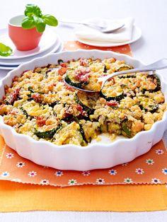 Auch mit knusprigem Topping sind Zucchini unglaublich lecker!