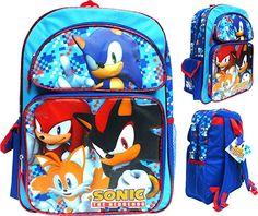 Sonic The Hedgehog Large Backpack Back To School Backpacks, Kids Backpacks, Sonic The Hedgehog, Naruto Uzumaki Hokage, Everyday Bag, Back Strap, Vera Bradley Backpack, Cute Designs, School Bags